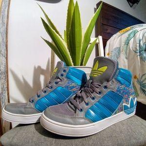 Adidas hi-top paint platter size 7